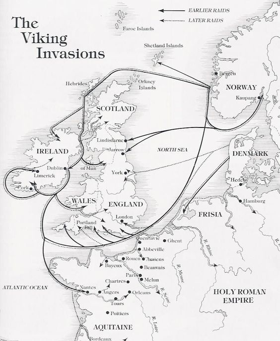 Viking Invasion Map